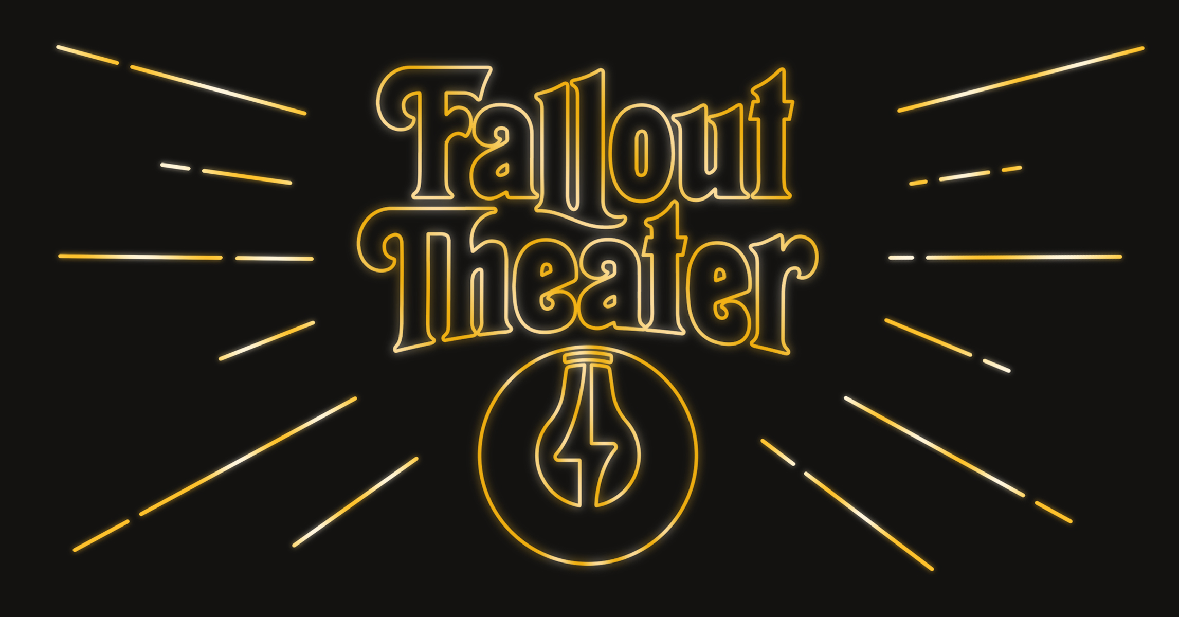 Fallout Theater logo with black background